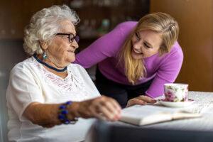 Edwardsville senior with caregiver
